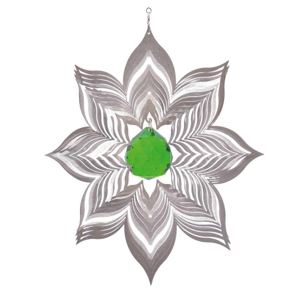 Windspiel bl te dalia xl mit 40 mm kristallkugel for Gartendeko sale