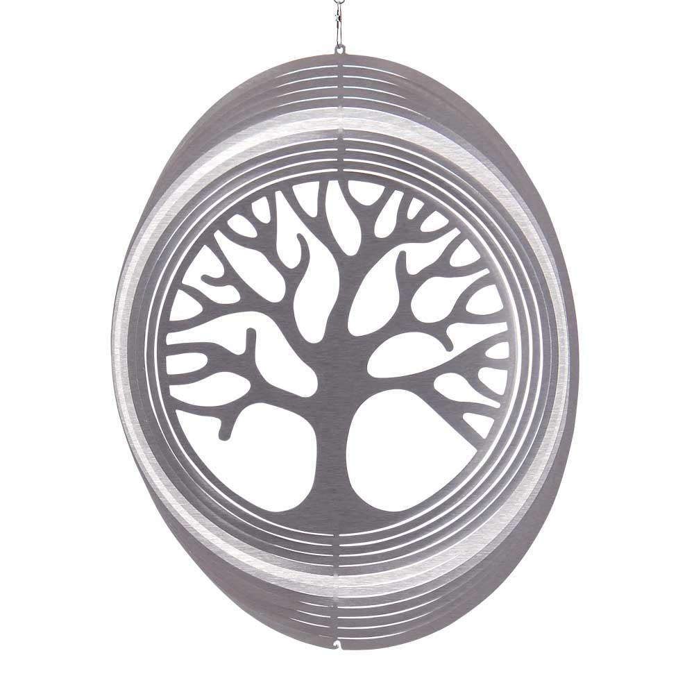 Windspiel Kreis Baum des Lebens   ILLUMINO - Edelstahl Windspiele ...