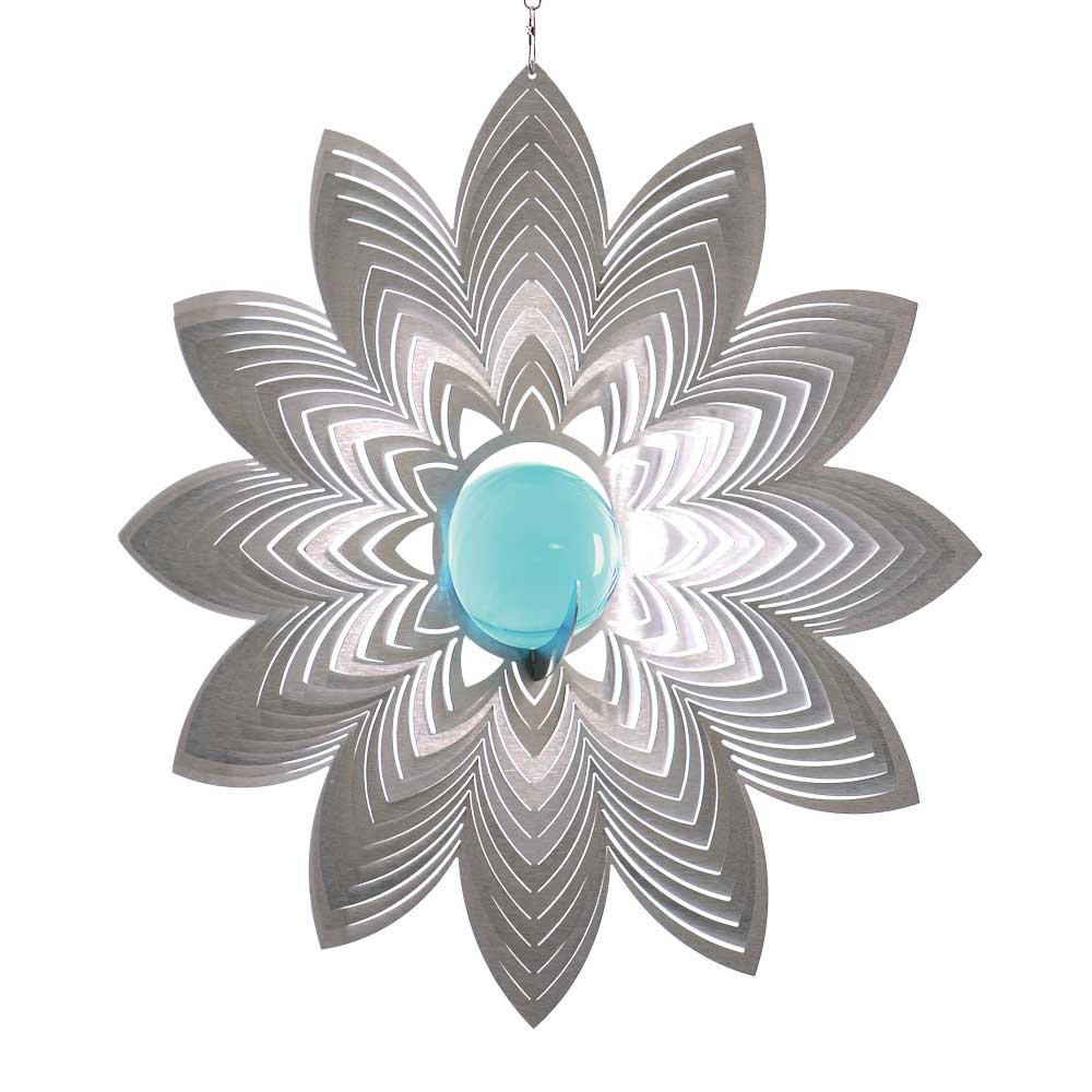 Windspiel bl te azalea mit 35mm glaskugel illumino for Gartendeko sale
