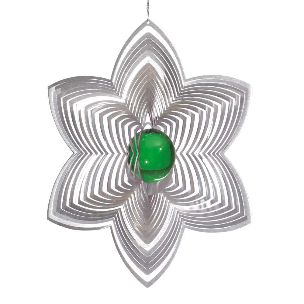 Windspiel bl te lilia xl mit 50 mm glaskugel illumino for Gartendeko sale