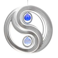 Windspiel Yin Yang - M mit 2x30mm Kristallkugeln