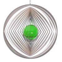 Windspiel Kreis - L Raute mit 50mm Glaskugel