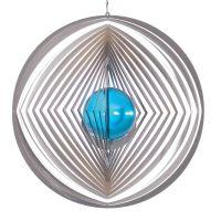 Windspiel Kreis - XL Raute mit 70mm Glaskugel