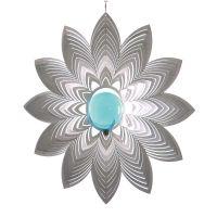Windspiel Blüte Azalea mit 35mm Glaskugel