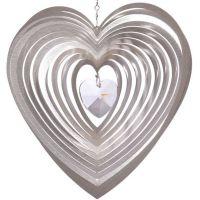 Windspiel Herz Amica - Mia mit 28 mm Kristallherz klar