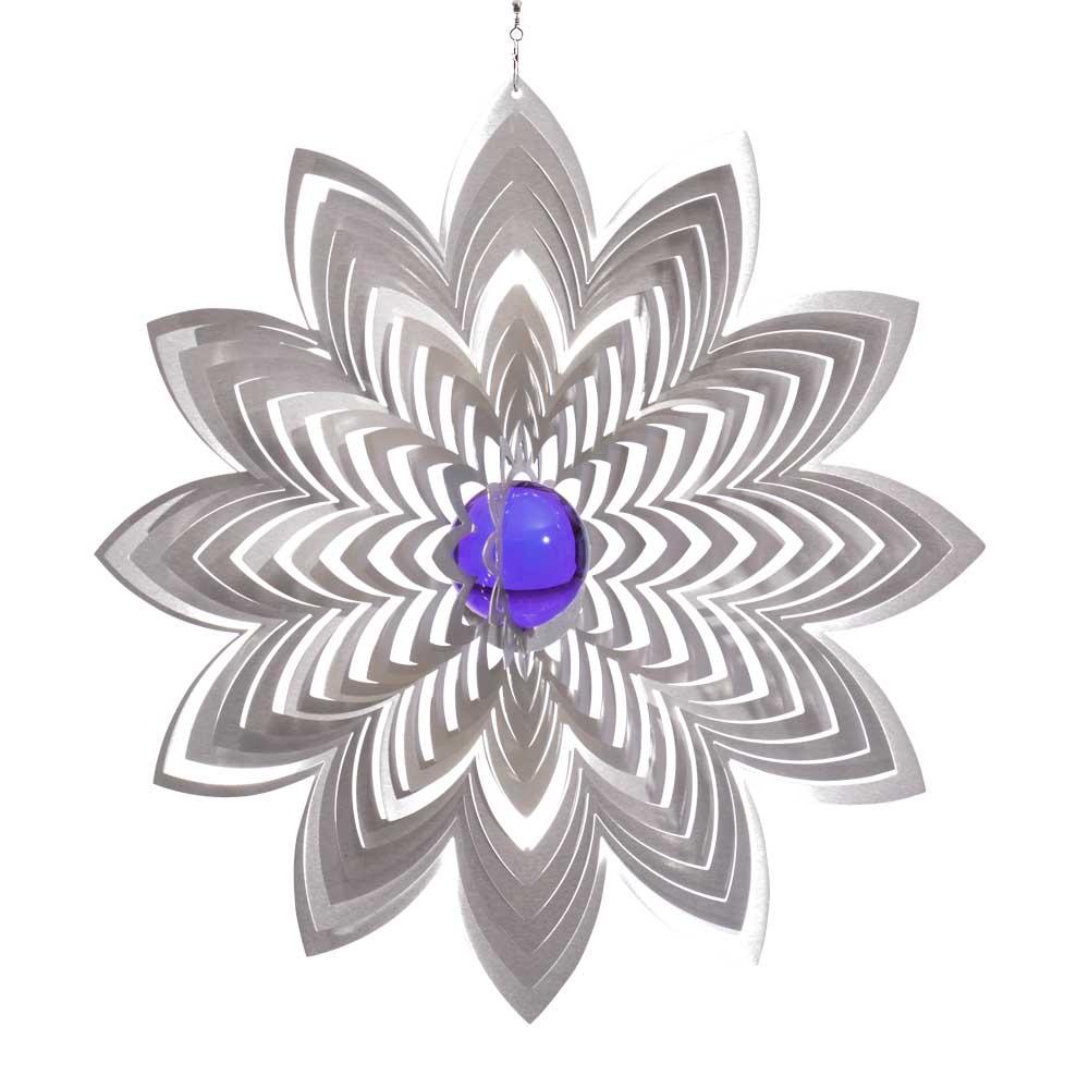 Windspiel bl te azalea xxl mit 70 mm glaskugel for Gartendeko sale