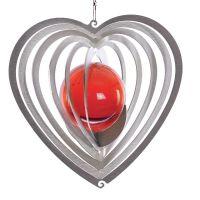 Windspiel Herz Herzy mini mit 35mm Glaskugel