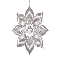 Windspiel Blüte Dalia XL mit 40mm Kristalldiamant
