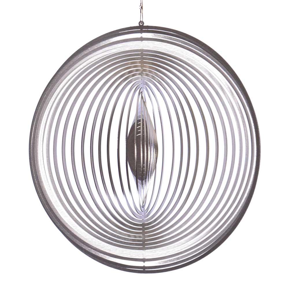 Windspiel Kreis XL | ILLUMINO - Edelstahl Windspiele mit Glaskugeln ...