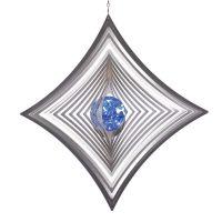 Windspiel Quadrat - XL hoch konkav mit 70mm Glaskugel