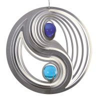 Windspiel Yin Yang EASY mit 2x35mm Glaskugel