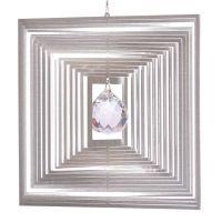 Windspiel Quadrat Quadro - L mit 30 mm Kristallkugel