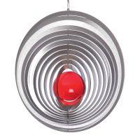Windspiel Kreis Exzentra mit 70mm Glaskugel