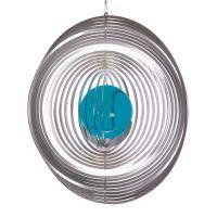 Windspiel Kreis - XL mit 70mm Glaskugel