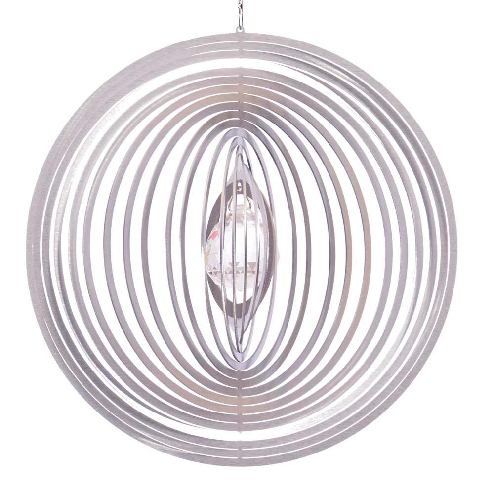 Windspiel kreis circolo l mit 30mm kristallkugel for Gartendeko sale