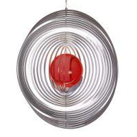 Windspiel Kreis - L mit 50mm Glaskugel