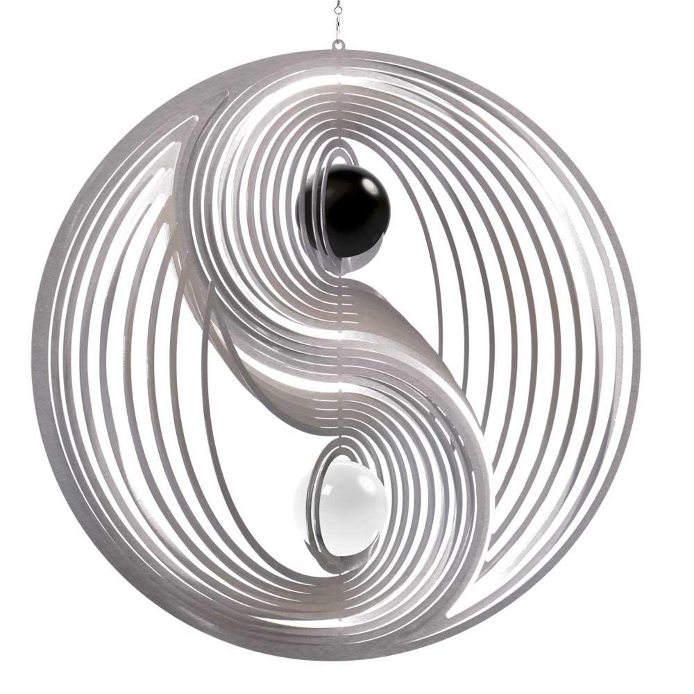 Windspiel yin yang l mit schwarzer und wei er 50mm for Gartendeko sale