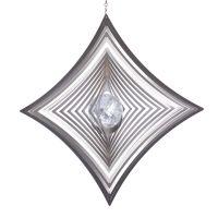 Windspiel Quadrat M hochkant konkav mit 35mm Glaskugel