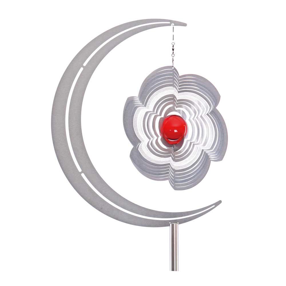 Gartenstecker mondus 370mm mit 1m stecker ohne windspiel for Gartendeko glas stecker