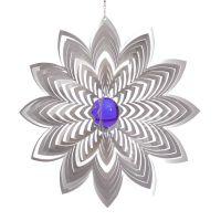 Windspiel Blüte Azalea - XXL mit 70 mm Glaskugel