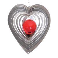Windspiel Herz Herzy midy mit 35mm Glaskugel