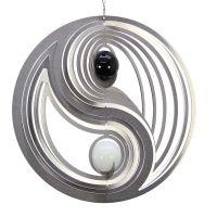 Windspiel Yin Yang EASY mit schwarzer und weißer 35mm Opalkugel