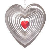 Windspiel Herz Amica - Mia mit 30 mm rotem Kristallherz
