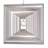 Windspiel Quadrat Quadro - M mit 20 mm Kristallkugel