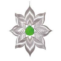 Windspiel Blüte Dalia - XL mit 40 mm Kristallkugel