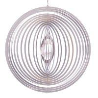 Windspiel Kreis Circolo XL mit 40mm Kristallkugel
