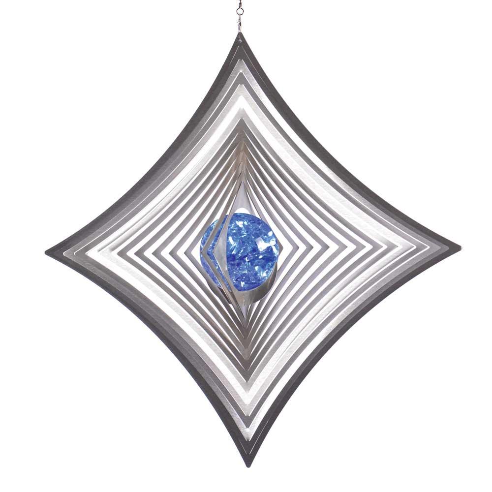 Windspiel quadrat xl hoch konkav mit 70mm glaskugel for Gartendeko sale