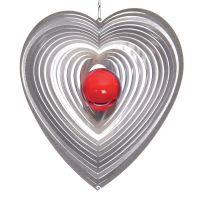 Windspiel Herz Herzy - M mit 35mm Glaskugel