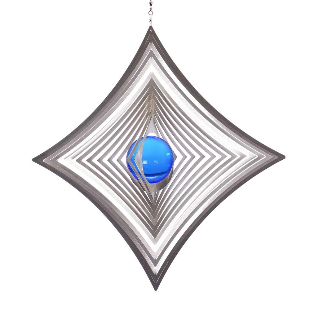 Windspiel quadrat l hoch konkav mit 50mm glaskugel for Gartendeko sale